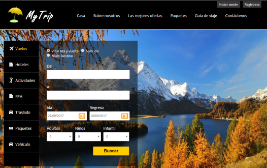 mytrip spanish screenshot